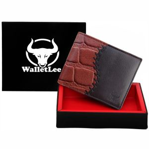 Walletlee Men Brown Genuine Leather Wallet (6 Card Slots)