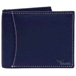 Tamanna Men Blue Genuine Leather Wallet (6 Card Slots)