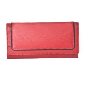 Tamanna Women Red Genuine Leather Wallet (9 Card Slots)