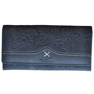 Tamanna Women Black Genuine Leather Wallet (12 Card Slots)