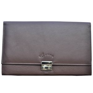 File Bags - Tamanna Women Brown Genuine Leather Document Holder  LWW00013