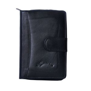 Tamanna Women Black Genuine Leather Wallet (8 Card Slots)