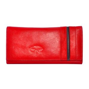 Tamanna Women Red Genuine Leather Wallet (8 Card Slots)