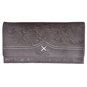 Tamanna Women Brown Genuine Leather Wallet (12 Card Slots)