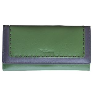 Tamanna Women Green, Purple Genuine Leather Wallet (8 Card Slots)