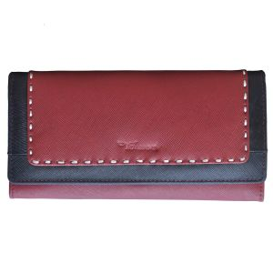 Tamanna Women Maroon, Black Genuine Leather Wallet (8 Card Slots)