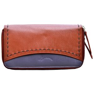 Tamanna Women Tan, Purple Genuine Leather Wallet (10 Card Slots)