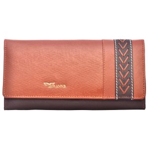 Tamanna Women Tan, Brown Genuine Leather Wallet Lww00050