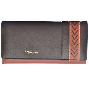 Tamanna Women Brown, Tan Genuine Leather Wallet (14 Card Slots) Lww00052