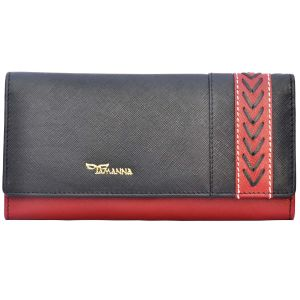 Tamanna Women Black, Red Genuine Leather Wallet Lww00053