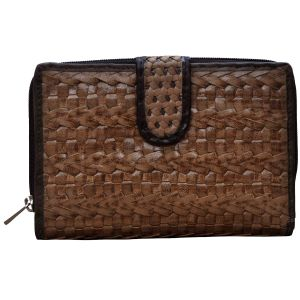 Tamanna Women Brown Black Leather Wallet Lww00071