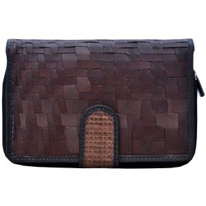 Tamanna Women Brown Black Leather Wallet Lww00077