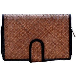 Tamanna Women Brown Black Leather Wallet Lww00095