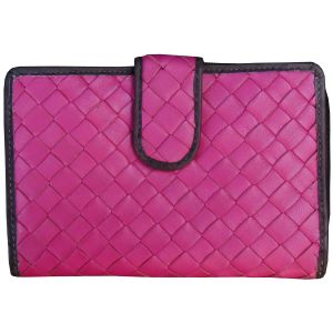 Tamanna Women Pink Black Leather Wallet Lww00101