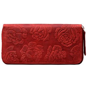 Tamanna Women Red Leather Wallet Lww00157