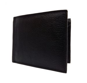 Buffalo Strap Textured Black Premium Mens Genuine Leather Wallet By GetSetStyle GBGLW-BLK-7055