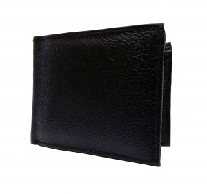Long Buffalo Strap Textured Black Premium Mens Genuine Leather Wallet By Getsetstyle Gbglw-blk-7057
