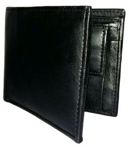 Getsetstyle Men Stylish Black Genuine Leather Wallet Glw-bk-7014