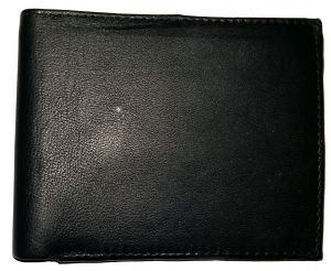 Getsetstyle Men Class Black Genuine Leather Wallet Glw-bk-7015