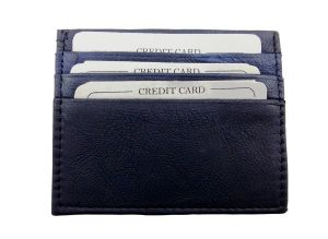 Peacock Blue Genuine Leather Card Holder By Getsetstyle Gssch-pbl-7042