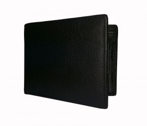 Midnight Black Textured Premium Mens Genuine Leather Wallet By Getsetstyle Gssre-blk-7062