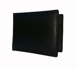 Dark Bull Strap Textured Black Premium Mens Genuine Leather Wallet By GetSetStyle GSSRE-BLK-7065