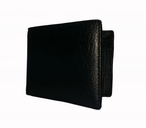 Men-in-black Textured Mens Premium Pu Leather Wallet By Getsetstyle Gssrepu-blk-7084