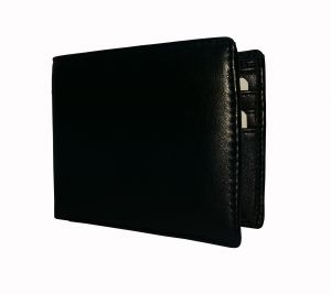 Dark Black Solid Textured Mens Premium Pu Leather Wallet By Getsetstyle Gssrepu-blk-7087