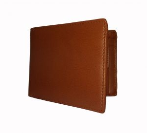 Bronzy Tan Textured Mens Premium PU Leather Wallet By GetSetStyle GSSREPU-TAN-7081