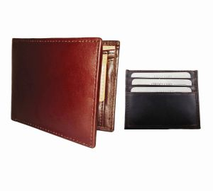 Burgundy & Dark Brown Combination Of 100% Genuine Leather Mens Wallet & Card Holder Ltw-gbr-7022c