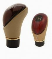 Type R Leather Plastic Gear Knob Handle For Car-brown & Beige