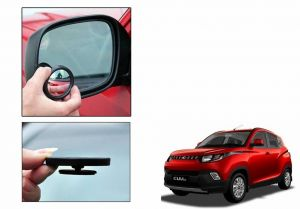 Autoright 3r Round Flexible Car Blind Spot Rear Side Mirror Set Of 2-mahindra Kuv100