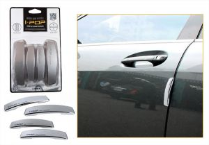 Autoright-ipop Car Door Guard Set Of 4 PCs Silver For Nissan Terrano