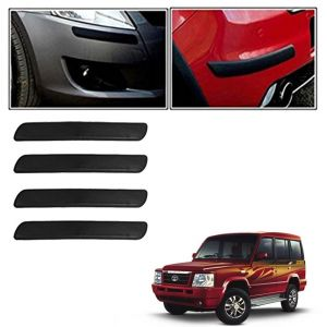 Autoright Car Bumper Safety Guard Protector Black For Tata Sumo Victa