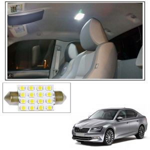 Car Lamps, Horns - AutoRight 16 SMD LED Roof Light White Dome Light for Skoda Superb New