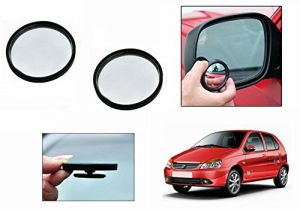 Autoright 3r Round Flexible Car Blind Spot Rear Side Mirror Set Of 2-tata Indica Ev2