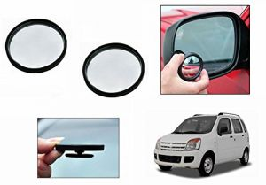 Autoright 3r Round Flexible Car Blind Spot Rear Side Mirror Set Of 2-maruti Wagonr Type 1 (1998-2003)