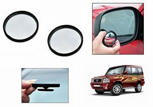 Autoright 3r Round Flexible Car Blind Spot Rear Side Mirror Set Of 2-tata Sumo Old