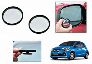 Autoright 3r Round Flexible Car Blind Spot Rear Side Mirror Set Of 2-honda Brio