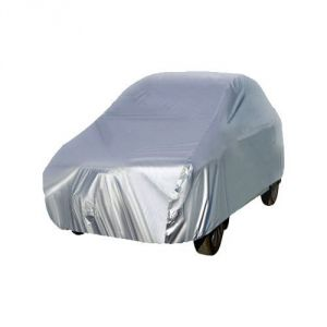 Autoright Car Body Cover Premium Fabric Silver Metty For Hyundai Santro Xing
