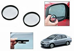 Autoright 3r Round Flexible Car Blind Spot Rear Side Mirror Set Of 2-honda City Zx