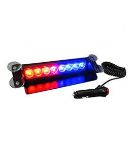 Autoright Red/blue 8led Car Dash Strobe Flash Light 3 Modes For Tata Aria