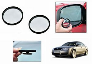 Autoright 3r Round Flexible Car Blind Spot Rear Side Mirror Set Of 2-skoda Superb