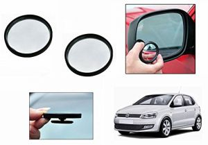 Autoright 3r Round Flexible Car Blind Spot Rear Side Mirror Set Of 2-volkswagen Polo