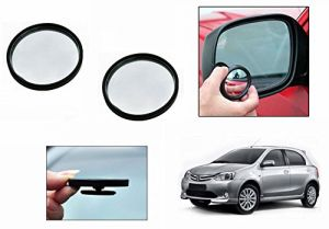 Autoright 3r Round Flexible Car Blind Spot Rear Side Mirror Set Of 2-toyota Etios Liva