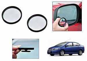 Autoright 3r Round Flexible Car Blind Spot Rear Side Mirror Set Of 2-honda City Type 5 (2014-2015)