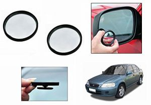 Autoright 3r Round Flexible Car Blind Spot Rear Side Mirror Set Of 2-honda City