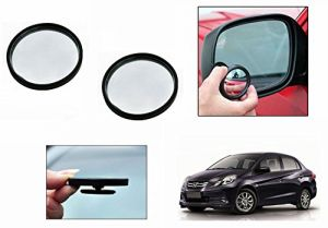 Autoright 3r Round Flexible Car Blind Spot Rear Side Mirror Set Of 2-honda Amaze Old