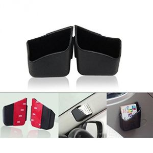 Autoright Car Pillar Storage Pockets Set Of 2 Black For Fiat Linea