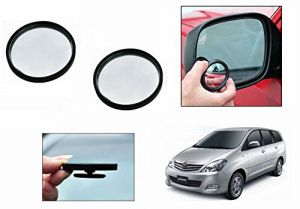 Autoright 3r Round Flexible Car Blind Spot Rear Side Mirror Set Of 2-toyota Innova Type 1 (2005-2009)